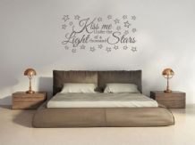 "Romantic Wall Quote ""Kiss Me.."" Wall Art Sticker, Vinyl Decal, Transfer."